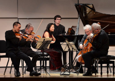 Mihae Lee with the Juilliard String Quartet