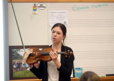 Artist-in-residence, violinist Tessa Lark